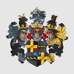 Fertig vektorisiertes und koloriertes Wappen