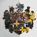 Vergleich: Vorlage - fertig vektorisiertes Wappen